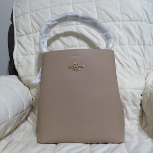 Coach Leather Town Bucket Bag (Taupe)